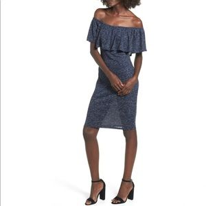 Mimi Chica Off The Shoulder Ruffle Knit Dress XS